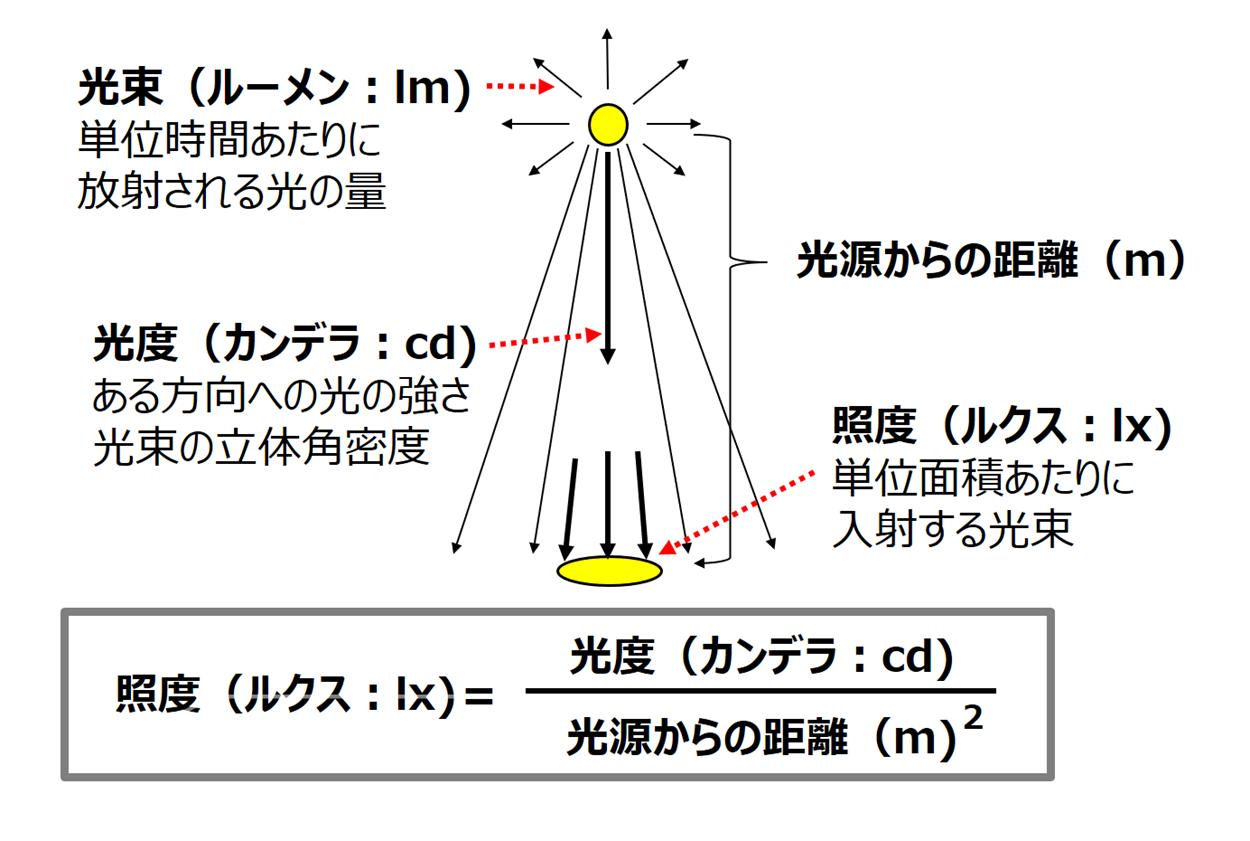 光の単位の種類